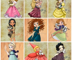 disney, princess, and baby image