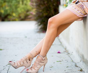 girl, shoes, and summer tan image