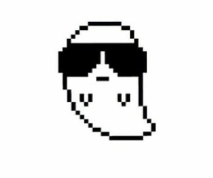ghost, cool, and pixel image