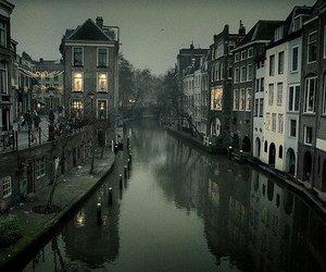 city, river, and dark image
