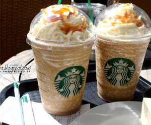 caramel, coffee, and frappuccino image