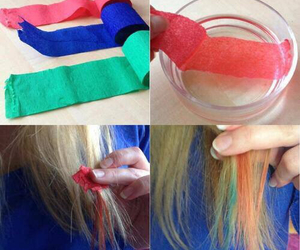 hair, diy, and color image