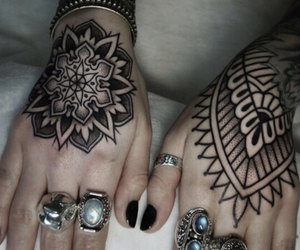 tattoo, ink, and mandala image