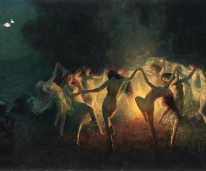 dance, witch, and art image