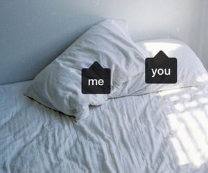 you, me, and bed image