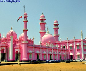 islam, pink, and mosque image