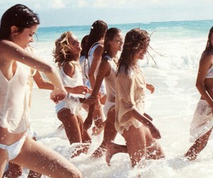 beach, crazy, and friends image