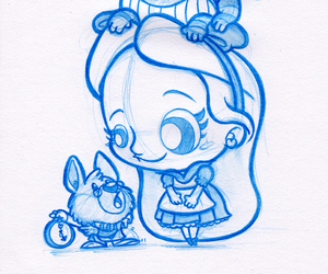 drawing, disney, and draw image