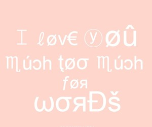 I Love You, love, and words image