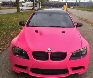 bmw, car, and pink image