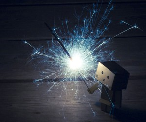 danbo and fireworks image