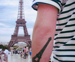 eiffel tower, paris, and tattoo image