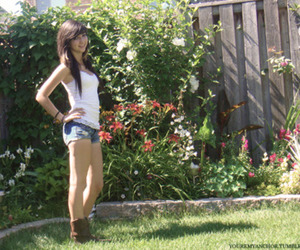 backyard, boots, and cowboy boots image