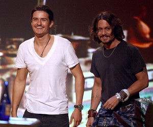 johnny depp, orlando bloom, and orlandobloom image
