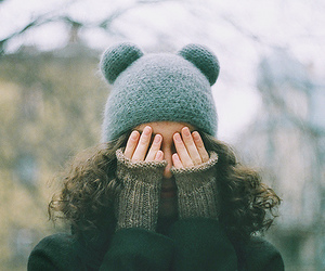 girl, winter, and hat image