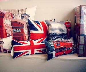 london, england, and pillow image