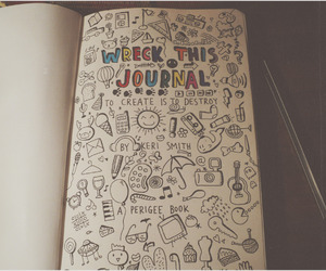 doodle, art, and journal image