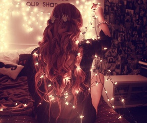 light, girl, and hair image