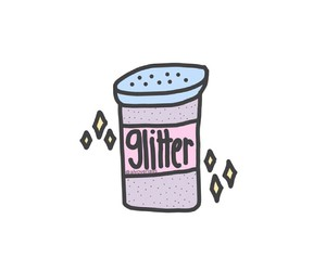 glitter, transparent, and overlays image
