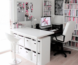 home decor, home office, and white image