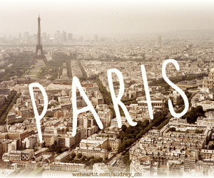 aerial, city, and eiffel image