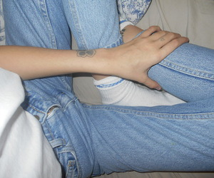 jeans, grunge, and blue image