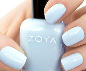 nails, blue, and zoya image