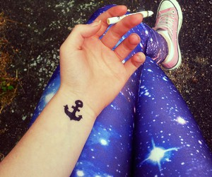 converse, space, and tattoo image