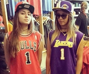 girls, lakers, and style image