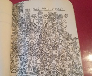 circles, keri smith, and wreck this journal image