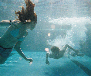 girl, water, and boy image