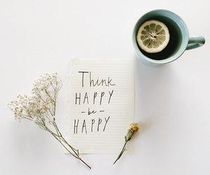 happy, tea, and quote image