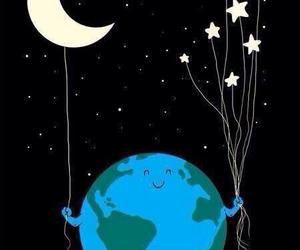 stars, moon, and earth image