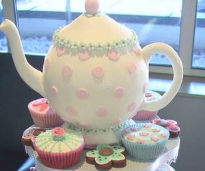 cupcake, cake, and food image