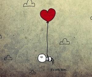love, heart, and balloon image