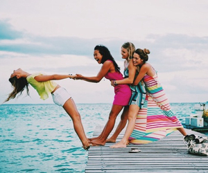 friends, summer, and girl image