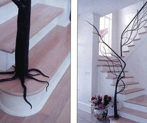 tree, stairs, and home image