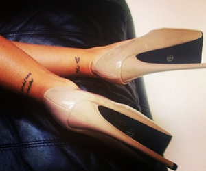 tattoo, shoes, and heels image