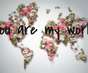 flowers, My World, and you are my world image