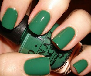 nails, green, and nail polish image