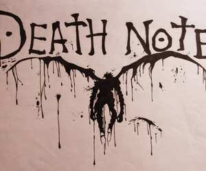 death note, anime, and shinigami image