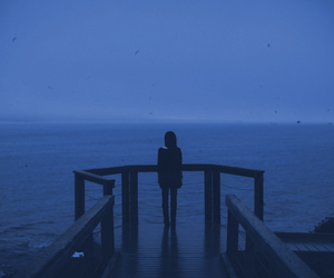 blue, dark, and grunge image