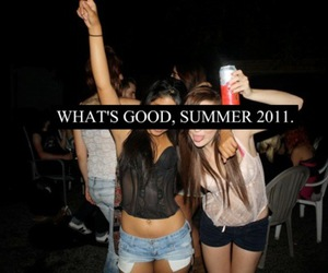 summer, party, and girl image