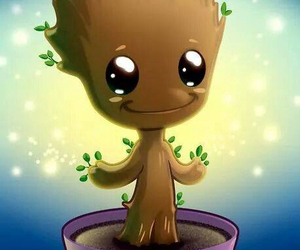 baby groot, guardians of the galaxy, and guardianes image