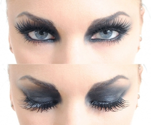 eyes, makeup, and black image