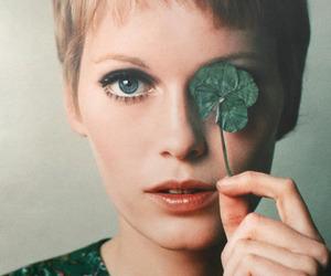 Mia Farrow, green, and blonde image