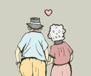 love, old, and couple image