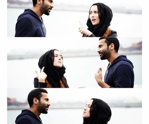 arab, couple, and hijab image