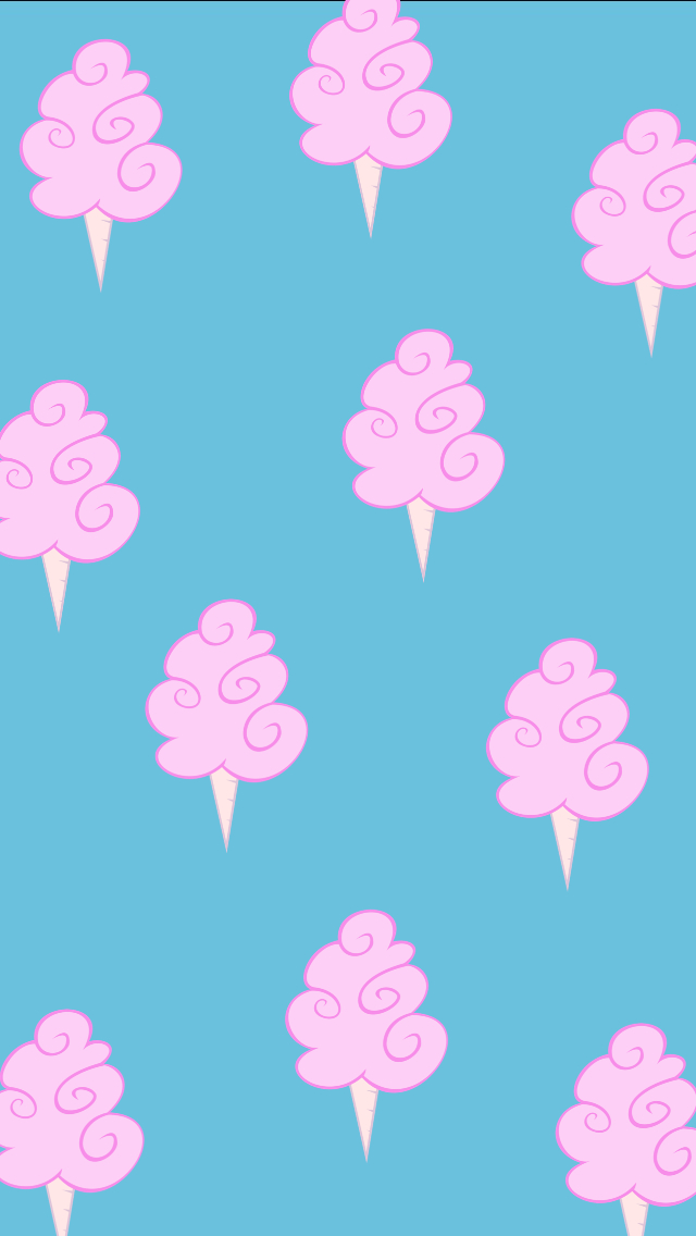 Cotton candy wallpaper shared by Ashley Castanedo