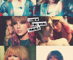 Taylor Swift, i knew you were trouble, and red image